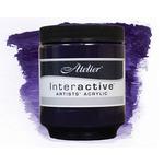 Interactive Professional Acrylic 250 ml Jar - Dioxazine Purple