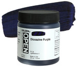 Golden Open Acrylic 4 oz Jar - Dioxazine Purple