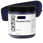 GOLDEN Open Acrylic Paints Dioxazine Purple 8 oz