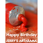 Birthday Art e-Gift Card - Red Paint eGift Card