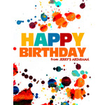 Birthday Art e-Gift Card - Splatter eGift Card