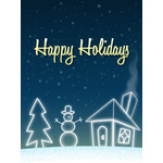 Christmas Art eGift Card - Snowy Landscape - electronic gift card eGift Card