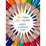 Father's Day Art eGift Card - You Color My World eGift Card