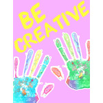 Kids Art eGift Card - Handprints on Pink eGift Card