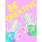 Kids Art eGift Card - Handprints on Pink eGift Card