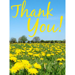 Thank You Art eGift Card - Field of Yellow Flowers eGift Card