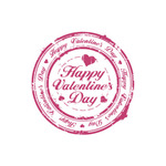 Valentine's Day Art eGift Card - Stamp On White - electronic gift card eGift Card