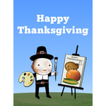 Thanksgiving Art eGift Card - Lil Jerry - electronic gift card eGift Card