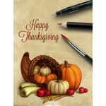 Thanksgiving Art eGift Card - Color Cornucopia - electronic gift card eGift Card eGift Card