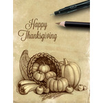 Thanksgiving Art eGift Card - Sepia Cornucopia - electronic gift card eGift Card eGift Card
