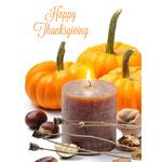 Thanksgiving Art eGift Card - Pumpkins and Candle - electronic gift card eGift Card eGift Card