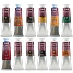 Lukas 1862 Oil Color 37 ml Set of 12 Earth Tones