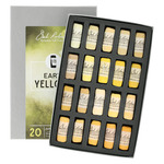 Richeson Hand-Rolled Soft Pastels Set of 20 Earth Yellows