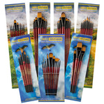 Ebony Splendor Teijin Multi-Filament Hair Brush Sets by Creative Mark