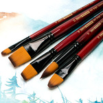 Ebony Splendor Teijin Multi-Filament Hair Long-Handled Brushes by Creative Mark