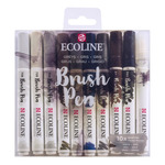 Ecoline Liquid Watercolor Brush Pen Set of 10 Greys