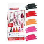 Edding 4500 Textile Marker Pack of 5 Warm Colors