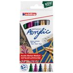 Edding 5100 Acrylic Marker Medium Nib Set of 5 Metallic Colors