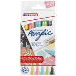 Edding 5100 Acrylic Marker Medium Nib Set of 5 Pastel Colors