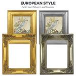 European Style Gold & Silver Leaf Frames