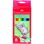 Faber-Castell Triangular EcoPencils Set of 12 - Assorted Colors