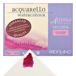 Artistico Watercolor Block 140 lb Hot Press Vegan Sized 14 x 20in Extra White 15-Sheet