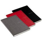 "Fabriano Ecoqua 5 4/5"" x 8 1/2"" Dot Grid Black, Raspberry, Stone Notebooks Set of 3"