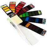 Fan-Pan Artist Watercolors Set of 42 Colors with Water Brush