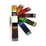 Fan-Pan Artist Watercolors Set of 42 Colors with Water Brush