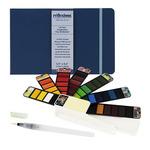 Fan-Pan Watercolor 42 Set w/ Waterbrush & Reflexions Watercolor Journal