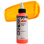 GOLDEN High Flow Acrylic Color 4 oz. - Fluorescent Orange
