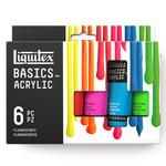 Liquitex Basics Acrylic 22 ml Fluorescent Set of 6 Tubes