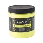 Speedball Acrylic Screen Printing Ink 8 oz Jar - Fluorescent Yellow