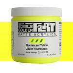 Golden SoFlat Matte Acrylic 16 oz Fluorescent Yellow