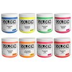 Golden Heavy Body Acrylic 16 oz Fluorescent Set Of 8