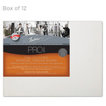 """Fredrix Archival Canvas Boards Cotton Duck - Box of 12 9x12"""""""