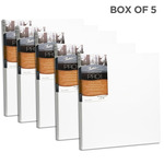 """Fredrix Dixie PRO Series Stretched Canvas 7/8"""" Box of Five 16x16"""""""