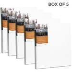 """Fredrix Dixie PRO Series Stretched Canvas 7/8"""" Box of Five 18x18"""""""