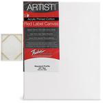 "Fredrix Red Label Canvas 48x48in Medium Texture Duck 3/4"" Box of 6"
