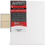 "Fredrix Red Label Canvas 24x24in Medium Texture Duck 3/4"" Box of 6"