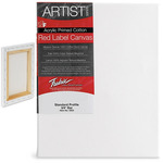 "Fredrix Red Label Canvas 18x24in Medium Texture Duck 3/4"" Box of 6"