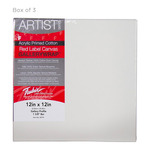 "Fredrix Red Label Gallerywrap Pre-Stretched Canvas 1-1/2"" Box of Three 12x12"""