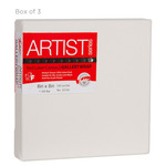 "Fredrix Red Label Gallerywrap Pre-Stretched Canvas 1-1/2"" Box of Three 8x8"""
