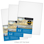 "3-Pack Gessobord 1/8"" Flat Panel 6X8"