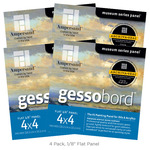 4-Pack Gessobord Flat Panel 4X4