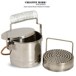 Giant Spiral Nickel Plated Brush Washer by Creative Mark