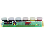 Sargent Art Washable Paint 3/4 oz Jar Set of 6 Glitter Colors