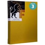 "Fredrix Metallic Canvas Gold 1 3/8"" Deep 9 x 12 Box of 3"