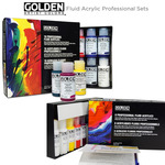 GOLDEN Fluid Acrylic Professional Paint Sets of 8 & 10
