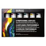 GOLDEN Heavy Body Acrylics Professional Principal Paint Set of 6, 60ml